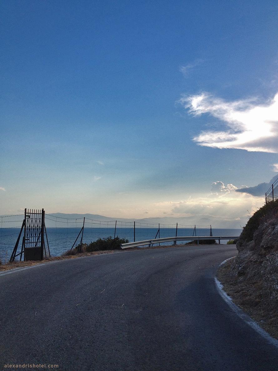 street turn towards Saint Anarguroi, Spetses Island