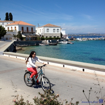 Cycling in Spetses